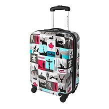 Atlantic Canadiana 20-Inch Hardside Spinner Luggage, Multi, United States Carry-on