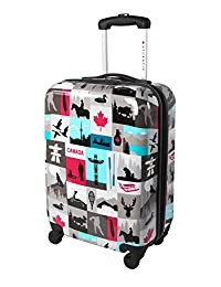 Atlantic Canadiana Hardside Spinner United States Carry-on Luggage 20-Inch, Multicolored