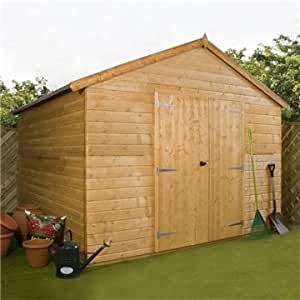 OXFORD: 10FT x 10FT WINDOWLESS DELUXE TONGUE & GROOVE WORKSHOP (12mm T&G Floor) ***EXTENDED DELIVERY TYPICALLY 10 WORKING DAYS AS TREATED AS SPECIAL - PLEASE SEE PRODUCT PAGE FOR MORE INFO