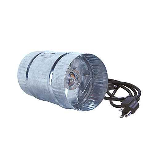 6 Duct Booster Fans Quiet : Growbright quot inline duct booster fan cfm buy