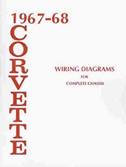1967 1968 corvette wiring diagram manual reprint amazon com books 1969 corvette horn relay wiring turn on 1 click ordering for this browser
