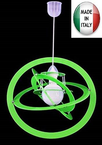 Lampadario a sospensione cerchi colorati personalizzabile 1xe27 ...