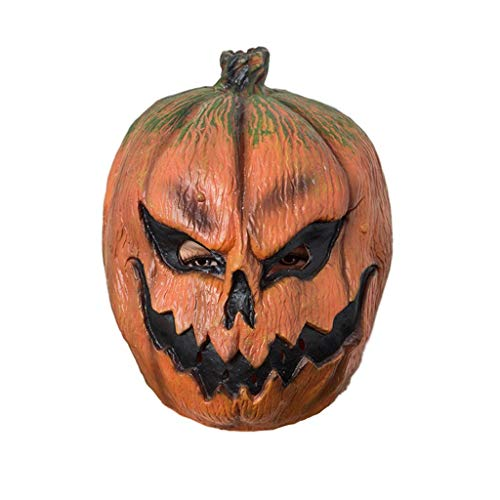 Jizhen Halloween Costume Party Latex Pumpkin Head Mask Ghost Pumpkin Headgear Funny Latex Mask Bar Dance Party Party ()