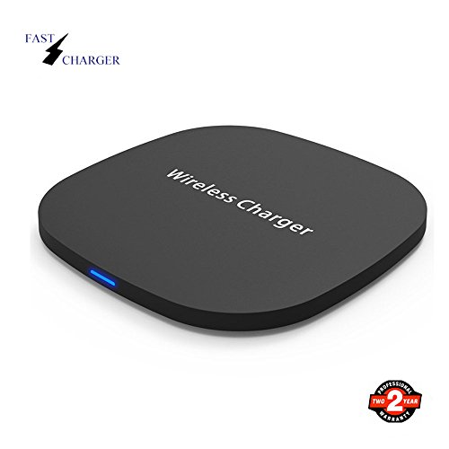 Fast Wireless Charger, LTS Future, Qi Wireless Charging Pad for S6Edge+, S7, S7Edge, S8, S8Plus, Note7, Note8, iPhone 8 8plus X 10 and all Qi-Enabled Devices (Black)