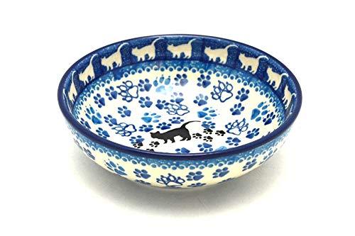 Polish Pottery Cat Saucer - 8 oz. - Boo Boo Kitty - Kitty Cat Pottery