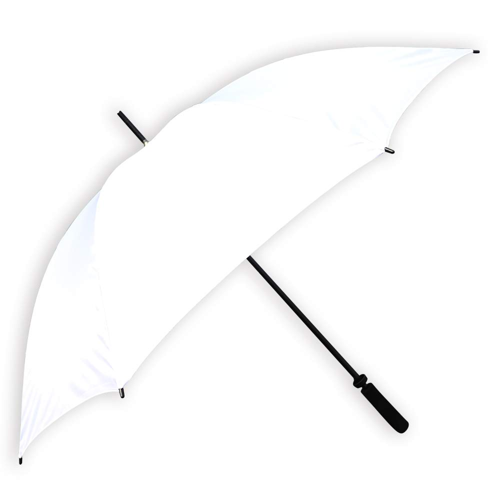 Barton Outdoors Elegant 60 Solid White Umbrella with Black Accents