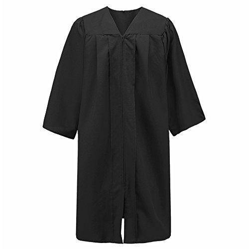 Annhiengrad Unisex Premium Matte Graduation Gown Only,Black -