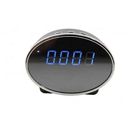 Reloj Despertador Espía WIFI gran angular 140º 60FPS 1080p Full HD con IR y deteccion de