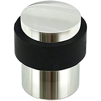 Inox Dsix02 32 Cylindrical Floor Mount Door Stop Polished