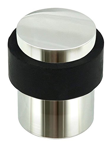 INOX DSIX02 32 Cylindrical Floor Mount Door Stop, Polished Stainless Steel