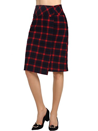 Check Print Skirt (Beluring Womens Contrast Check Print A-Line Mini Skirt Casual)