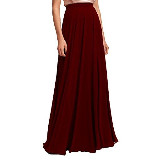 karever Chiffon Bridesmaid Dresses Long Woman Maxi Skirt Beach ()