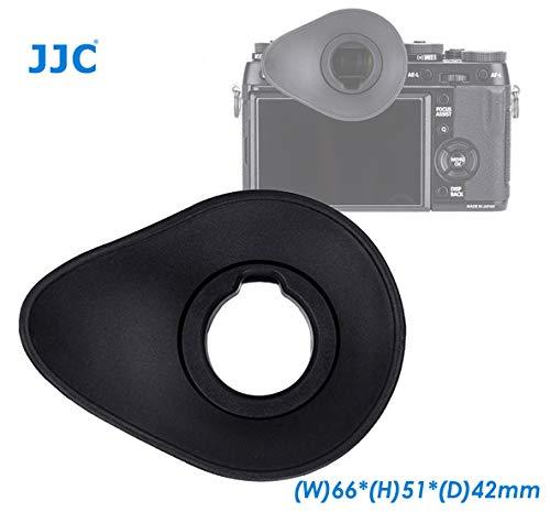 (JJC Oval Shape Large Eyecup for Fuji X-T1 X-T2 X-T3 X-H1 GFX-50S Camera, Ergonomic Oval Soft TPU Rubber Eyecup fits X-T1 X-T2 X-T3 X-H1 GFX-50S, Replaces EC-XT L/EC-GFX/EC-XT M/EC-XT S and EC-XH W)