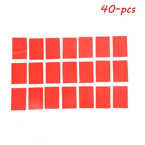 Pomeat 40PCS 4X6CM Transparent Silicone Double Sided Tape Sticker For Car High Strength No Traces Adhesive Sticker