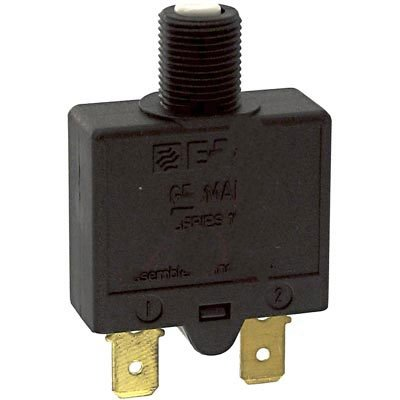 E-T-A Circuit Protection and Control 1658-G41-02-P10-15A , Circuit Breaker; Therm; Push; Cur-Rtg 15A; Flange; 1 Pole; Vol-Rtg 240/28VAC/VDC