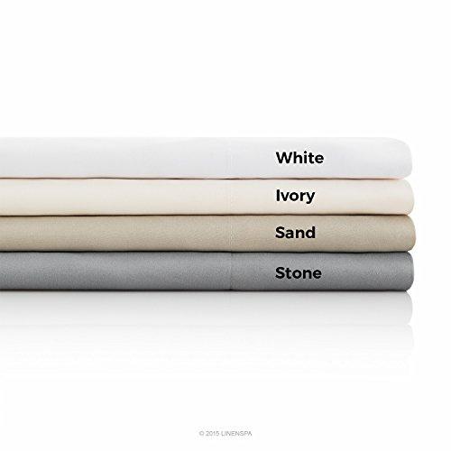 Linenspa Brushed Microfiber Ultra Soft Bed Sheet Set - Wrinkle Resistant -...