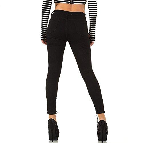 Used Look High Waist Skinny Jeans Für Damen , Schwarz In Gr. S bei Ital-Design