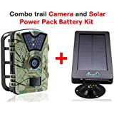 My Animal Command Outdoor 12MP Trail Cameras with Night Vision Motion Activated Sensor and Solar Power Pack, IP66 Waterproof 1080p Game Surveillance System Camera, Deer & Wildlife Hunting time Lapse