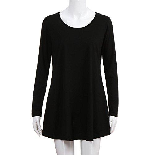 Blouses Printemps Ray O Cou Solide Manches Mode Retour Nouveau Automne Bouton zahuihuiM Nouveau Noir Casual Shirt Longues Tops T Femmes 2018 wTqPCp5A