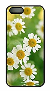 Protective PC Case Skin for iphone 5 Black PC Case Back Cover Shell for iphone 5S with Daisy