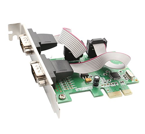 Comm Card - IO Crest 2 Port Serial PCI-e 1.0 x 1 with Full and Low Profile Brackets SI-PEX15037