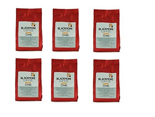Blackmore Coffee KES10X06 Cápsulas de Café Descafeinado, 60 Piezas
