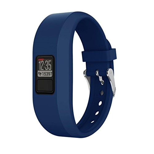 DZT1968 Silicone Classical replacement band Wristbands for Garmin Vivofit 3 (Dark Blue)