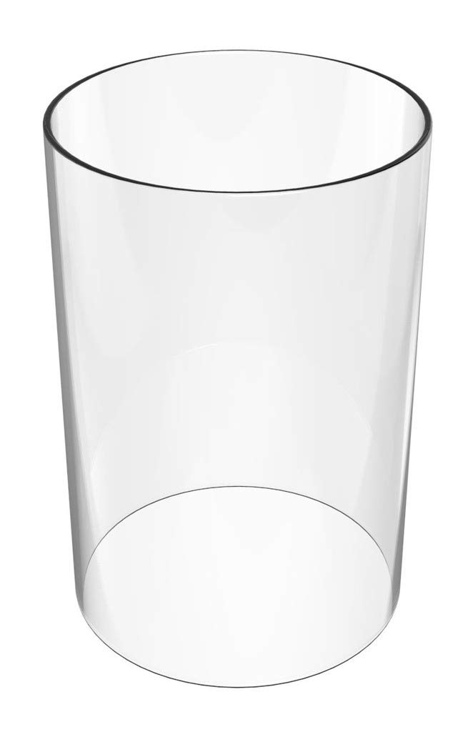Amayan Fixture Covers- Tall Cylinder Glass Vase Height 14 inch Diameter 4 inch for Candle Open Ended- Cylinder- (Multiple Specifications)