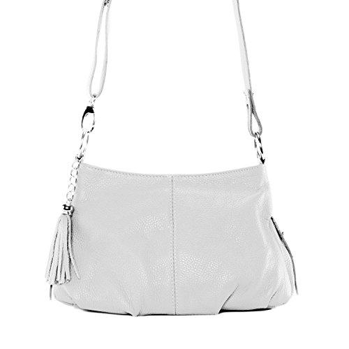 OH MY BAG Sac à Main femmes CUIR italien Sac porté épaule et bandoulère Modèle LOBE Nouvelle collection - nouvelle collection 2018 Blanc