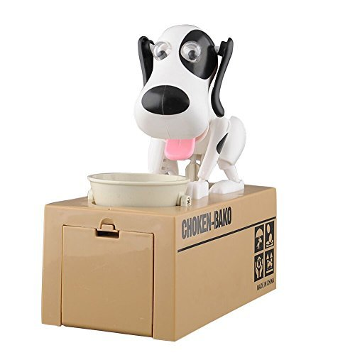 LOBZON Automated Puppy Stealing Coin Bank, Money Box Us (Puppy Coin Bank)