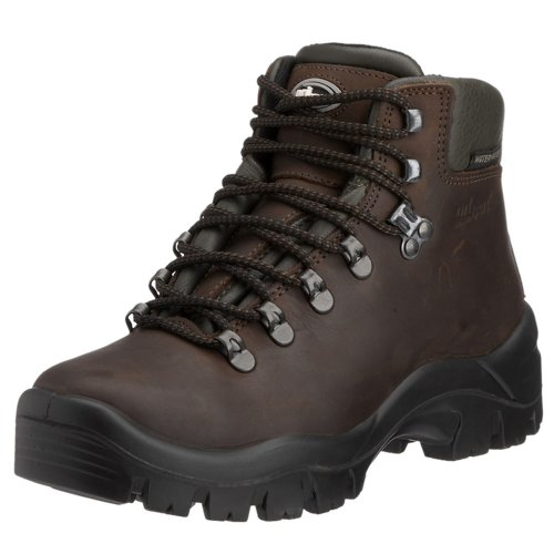 Grisport Peaklander Italian Hiking Boot. Waterproof/Breathable, Rubber Cleated Sole 7 Brown