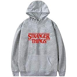 Emilyle Stranger Things – Sudadera con capucha y letra roja de Demogorgon Days Nostalgia para niñas y mujeres