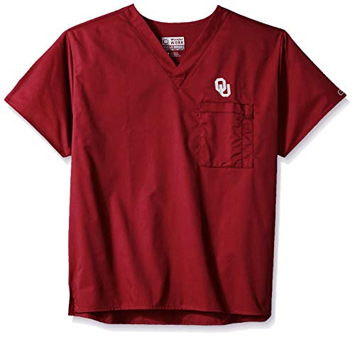 (WonderWink Unisex-Adult's University of Oklahoma V-Neck Top, Burgundy, 3XL)