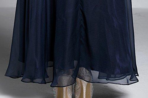 Cotylédons Robes De Fête De Bal Formelle Cou De Scoop Moitié Manches Longues Robes De Soirée Slim Fit