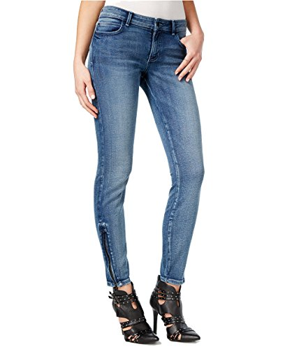 Guess Women's Blue Black Wash Low Rise Skinny Jeans (28, Navy) by GUESS