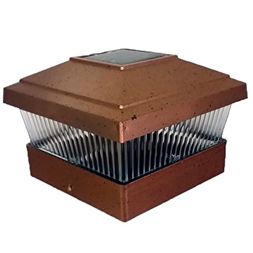 Plastic Square Post Fence Mount 5''x5'' Pack of 6 (Copper)