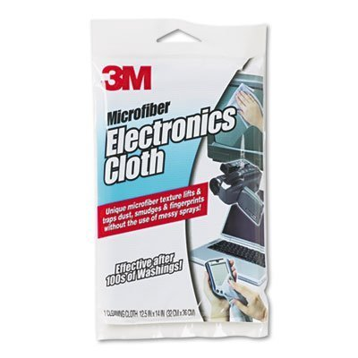 3M : Microfiber Electronics Cleaning Cloth, 12 x 14, White -:- Sold as 1 EA]()