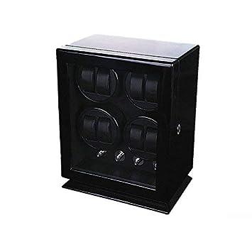 ... Estuche Bobinadora, Caja para Relojes Automáticos Mecánicos Silenciosa de Madera Pintada con Expositor de Relojes Vitrina (8+0, Negro): Amazon.es: Hogar