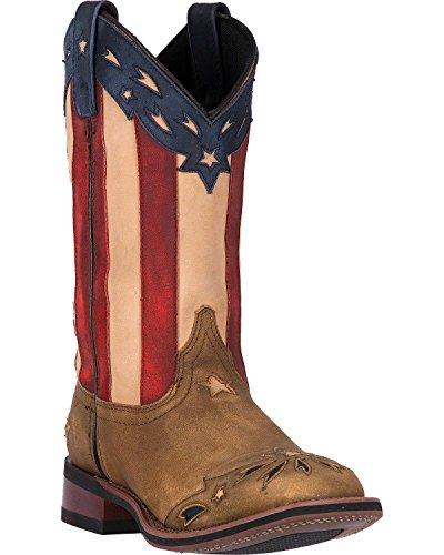 Laredo Women's Freedom Cowgirl Boot Square Toe Wheat 7.5 M US by Laredo