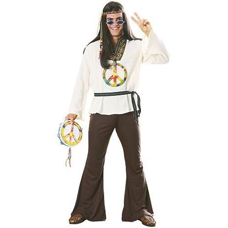 558cea170e06 Rubie's Costume Carnevale Travestimento Uomo Hippy Figli Dei Fiori Anni 60  - Uomo