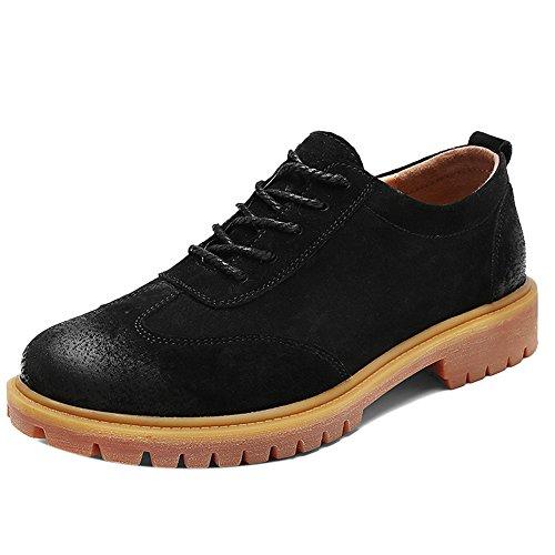 COOLCEPT Men Casual Chukka Booties Winter Shoes Black