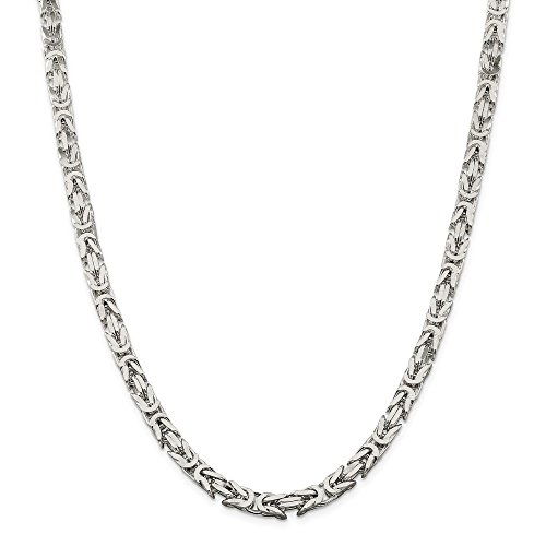 Jewelry Necklaces Chains Sterling Silver 6mm Square Byzantine Chain