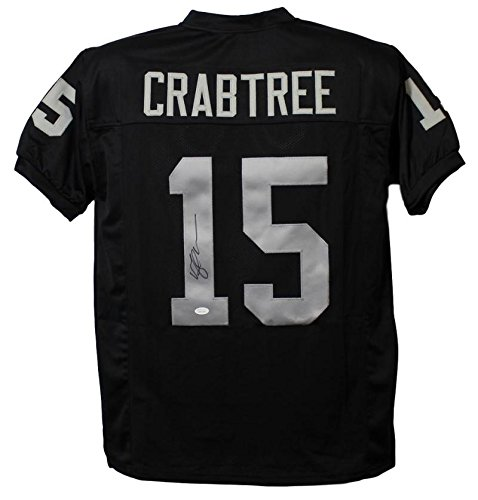 Michael Crabtree Autographed/Signed Oakland Raiders XL Black Jersey JSA