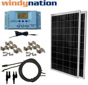 Best Cheap Deal for 200 Watt 200W Solar Panel Kit with LCD Solar controller 12/24V RV Boat Off Grid by Genric - Free 2 Day Shipping Available
