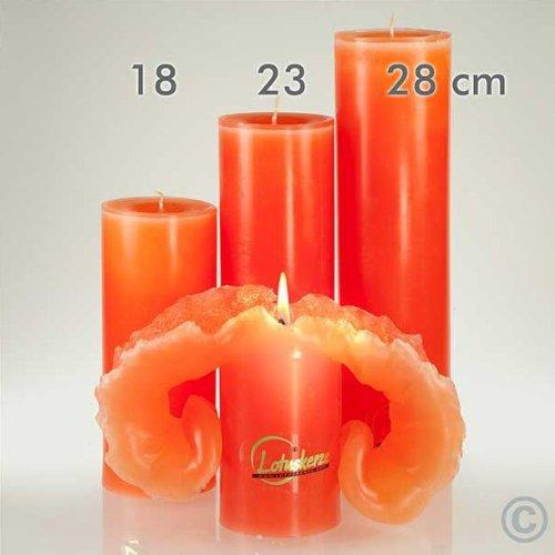 Candela Lotus-Kerze Aquarell Rot Töne 28 cm