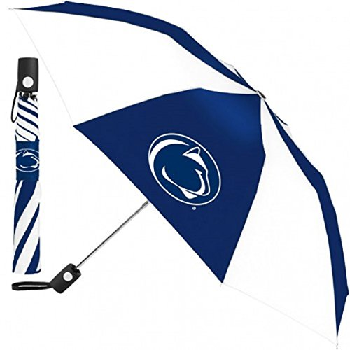 WinCraft NCAA Penn State University Auto Folding Umbrella, Black