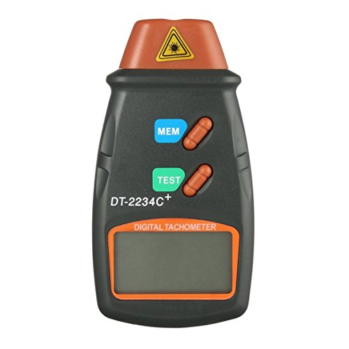MqbY Digital Laser Photo Tachometer Non Contact RPM Tach Digital Laser Tachometer Speedometer Speed Gauge Engine ()