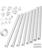 Cable Concealer, Large Size Cord Cover Fits 4 Loose Cords, Cable Managemet for Wall Mount TV, Paintable Cable Hider Channel Kit for Home Office, 8X L15.7 X W1.18 X H0.6 inches, White