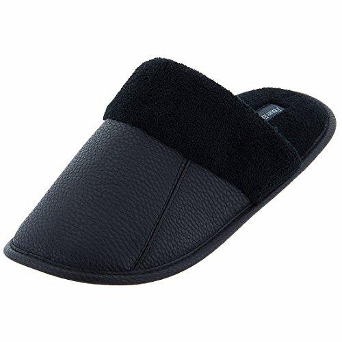 perry-ellis-portfolio-mens-black-scuff-slippers-l-95-105