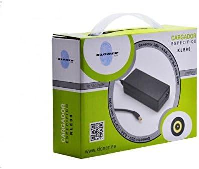 Kloner KLE90 Adaptador e inversor de Corriente Interior 90 W Negro - Fuente de alimentación (Interior, 100-240 V, 50/60 Hz, 90 W, 20 V, 4,5 A): Amazon.es: Informática